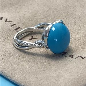 🌼DAVID YURMAN Silver Continuance Ring Turquoise